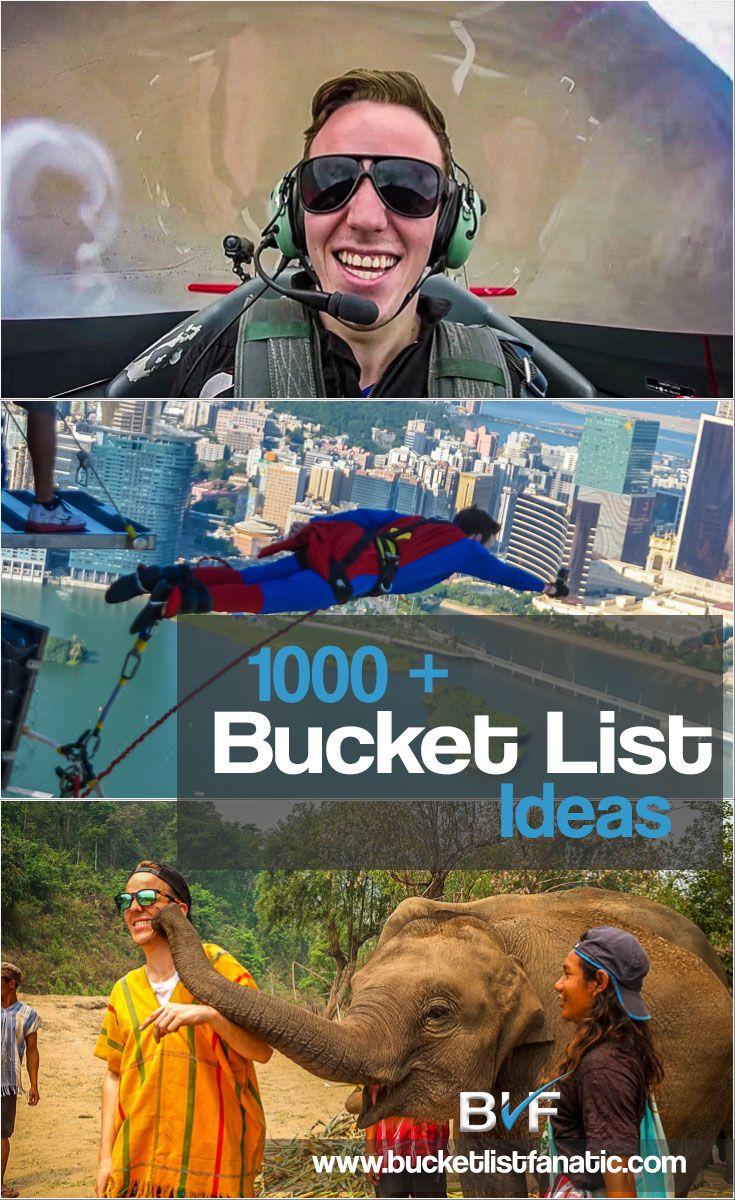 The 1000 + Bucket List - Pinterest