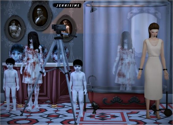 Jenni Sims: Decoratives JU-ON The Grudge • Sims 4 Downloads