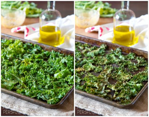 Making - Baked Kale Chips Recipe #kale #healthy #fall #vegan #paleo
