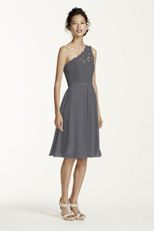 one shoulder lace and mesh dress illusion one shoulder