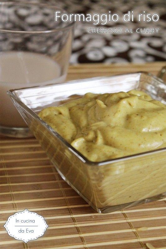 Formaggio di riso cremoso al curry.