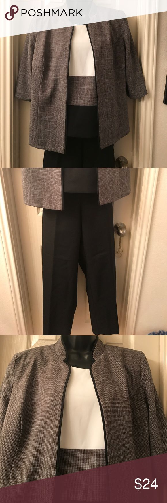 Nice 3 Piece Dressy Pant Suit Worn only once very nice top has side zipper pants have a zipper with elastic on the back part, 100% polyester Perceptions New York Other