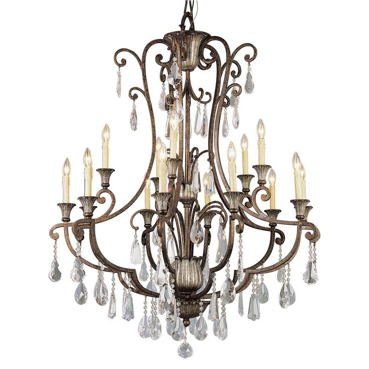 Bel Air Lighting Cabernet Collection 15 Light Antique Bronze Chandelier