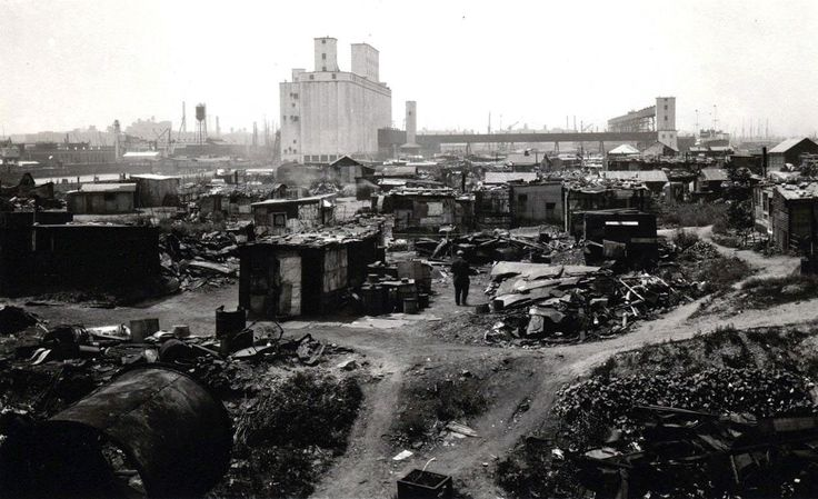 A 'Hooverville' in Brooklyn, ca. 1930-1932. The area is now Red Hook Park in Brooklyn. : UrbanHell