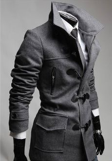 Men's Coat with Removable Hood -- I really like this!