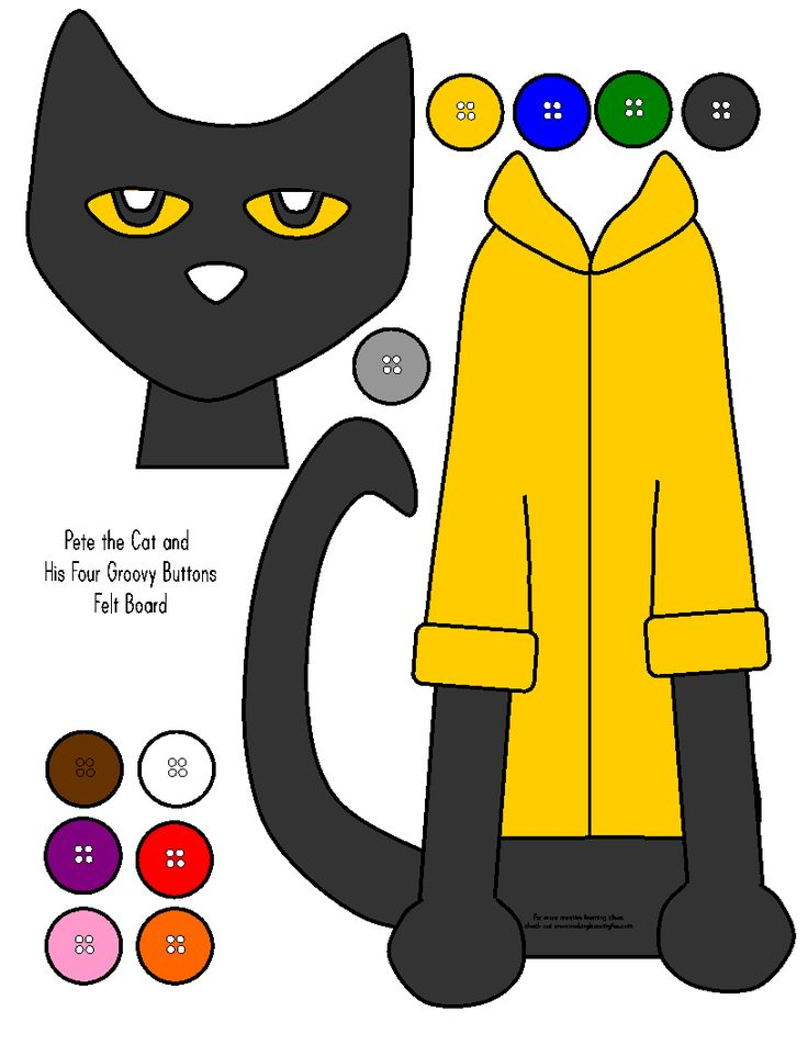 29 best book pete the cat images on pinterest pete the cats a printable felt board activity for pete the cat and his four groovy buttons pronofoot35fo Gallery