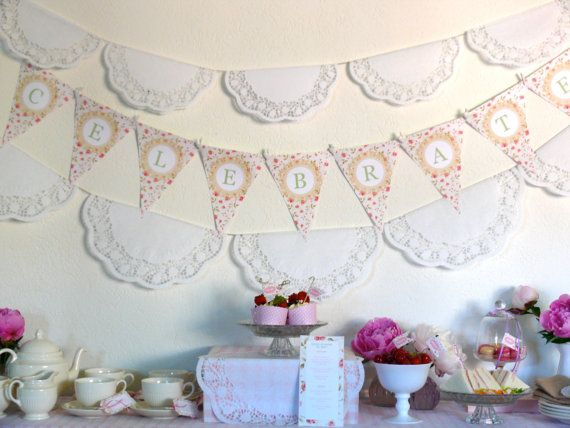 Baby Shower Tea Party Decorations | You are In Good Company: GOOD ON PAPER - Printable Parties