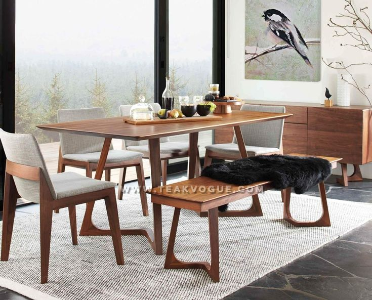 POSITANO TEAK DINING TABLE Made From Solid Teak Wood 5 Years Warranty