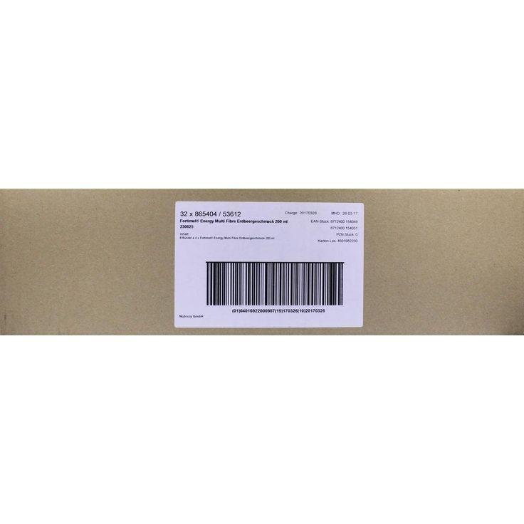 FORTIMEL Energy Multi Fibre Erdbeergeschmack:   Packungsinhalt: 8X4X200 ml Flüssigkeit PZN: 01125152 Hersteller: Nutricia GmbH Preis:…