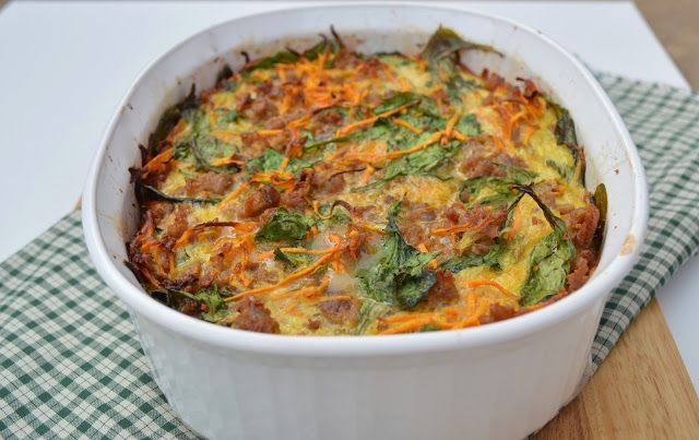 Sausage and Sweet Potato Breakfast Casserole. Perfect for a hearty paleo breakfast to hold you over until lunch!