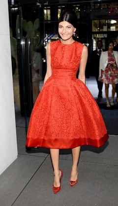 Giovanna Battaglia wearing a beautiful dress by Dolce