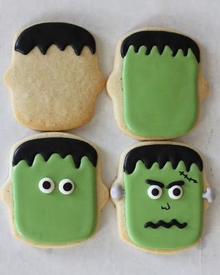 """how to make """"eyes"""" out of royal icing and halloween sugar cookies"""
