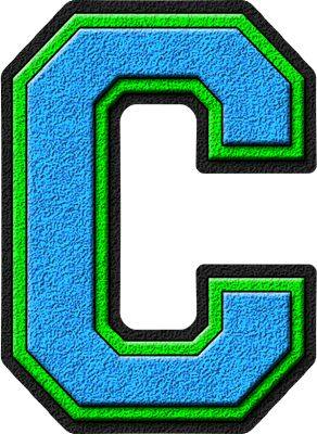The Letter C Presentation Alphabet Set Light Blue