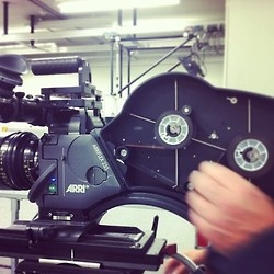 Director of Photography practicing with an Arriflex 235