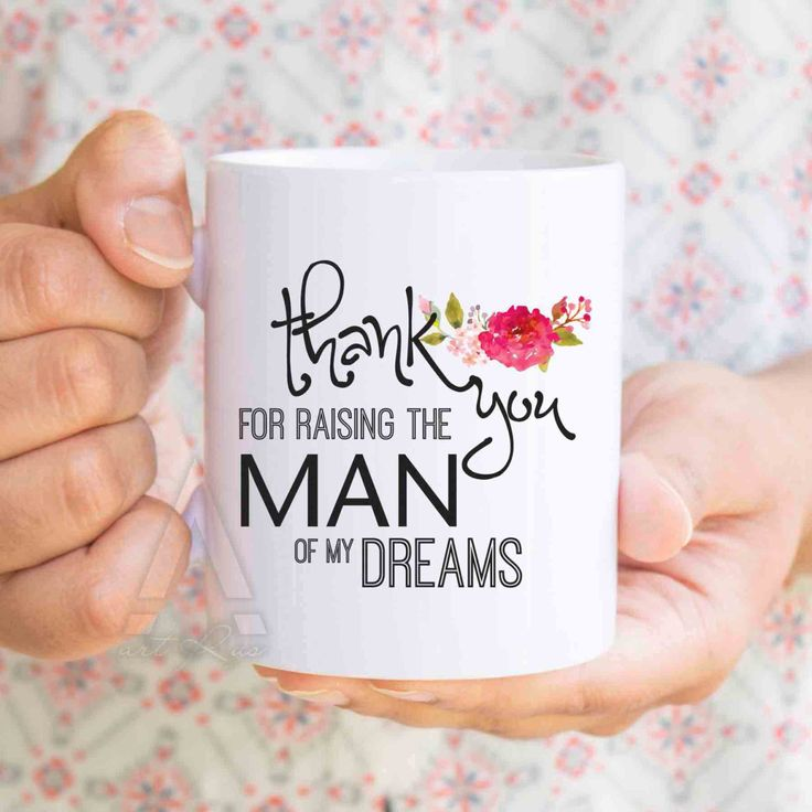 "gifts for mother in law, gifts for inlaws ""thank you for raising the man of my dreams"" coffee mug, birthday gift for mother in law  MU270 by artRuss on Etsy"