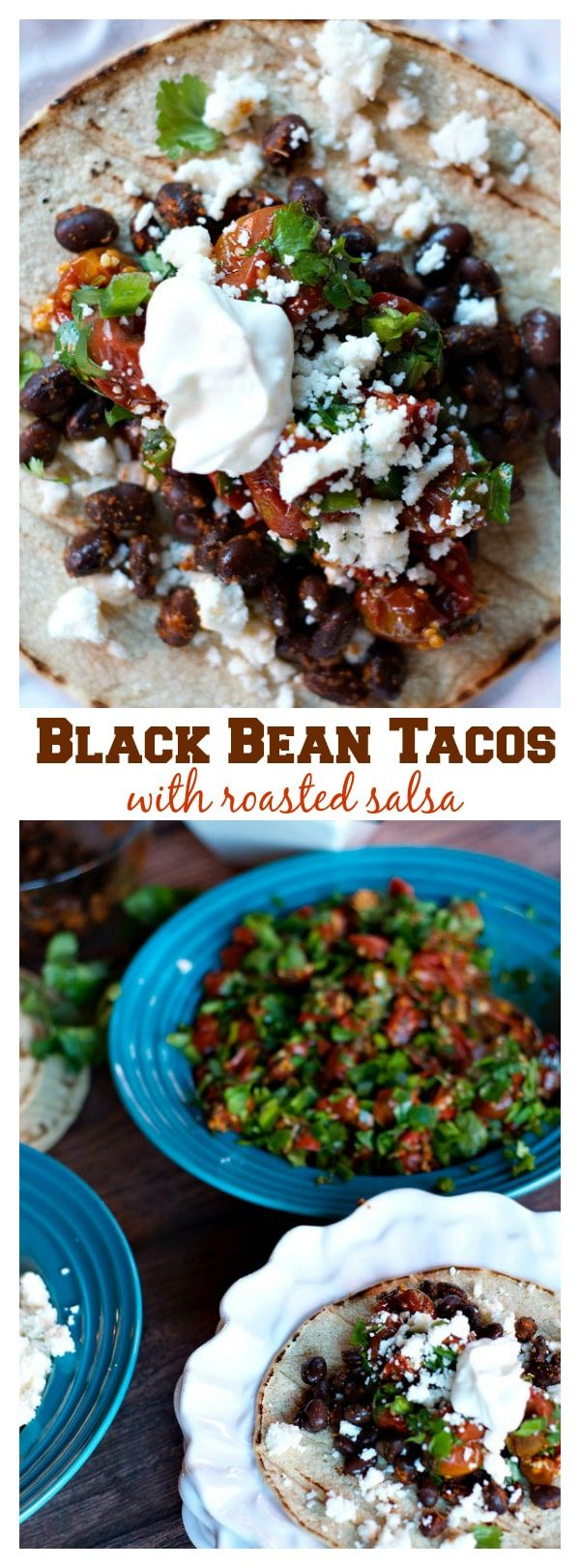 Black Bean Tacos with Roasted Salsa