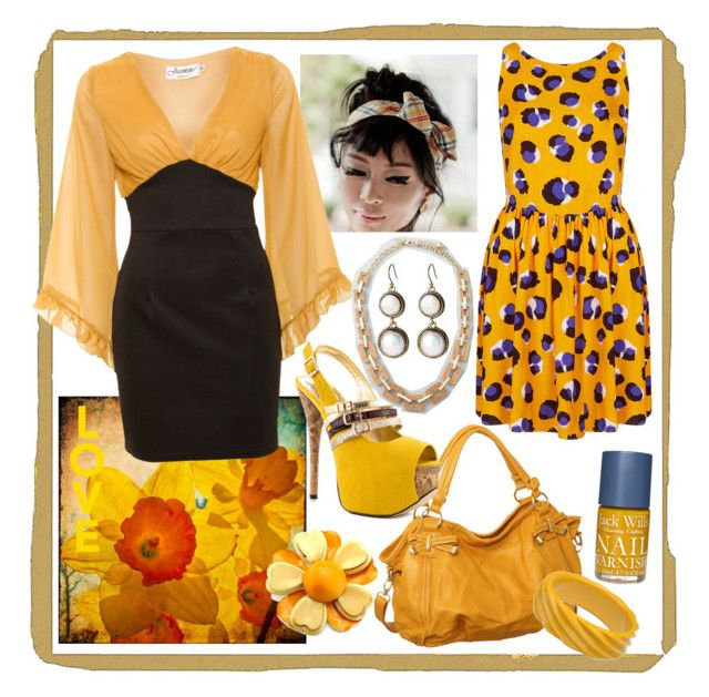 """mustard"" by redrawlins ❤ liked on Polyvore featuring Lucky Brand, Topshop, Jack Wills, Jasmine, Luichiny, Kate Spade and Adia Kibur"