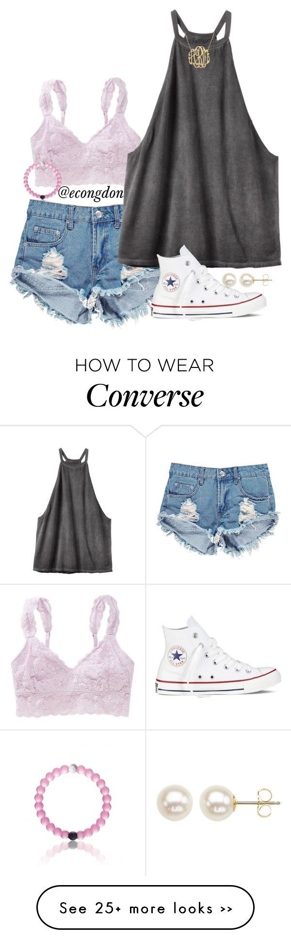 """day 14 of 365 happy days"" by econgdon on Polyvore featuring мода, Aerie, Honora, Boohoo, RVCA, Converse и 365happydays"