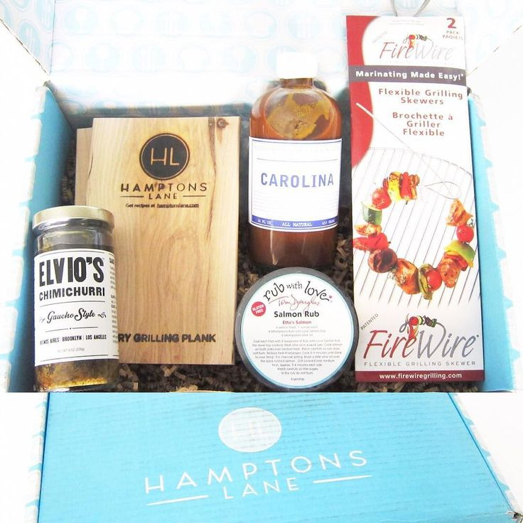 "The ""Fresh Grill"" box from Hamptons Lane ($47/monthly) was filled with awesome grilling tools and ingredients! Absolutely loved it! Full review $10 off your first box coupon on the blog  click link in bio.  Items in the box: - Trio set of wood grilling planks - Set of #FireWire bendable grilling skewers - @lilliesqchicago #carolina #BBQsauce - Tom Douglas #RubWithLove Salmon Rub - @elvioschimi #Chimichurri Sauce  @hamptonslane #hamptonslane #subscription #subscriptionbox #subscriptionboxes…"