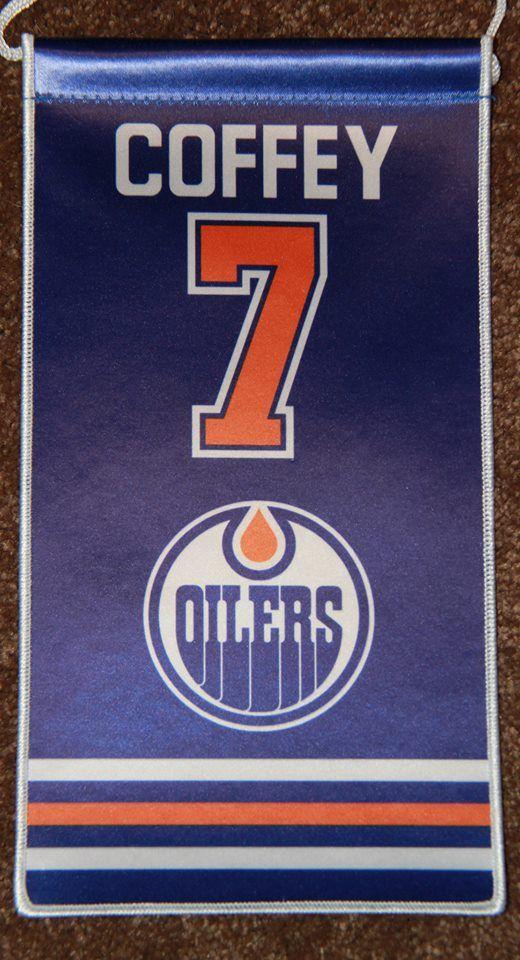 Paul Coffey Edmonton Oilers Retirement Banner