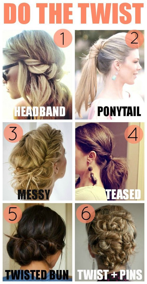 6 Cute & Chic Twisted Hairstyles for women. Find the perfect tutorial for prom or your wedding. Works best on mid to long hair.