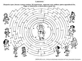 Jesus heals 10 lepers maze
