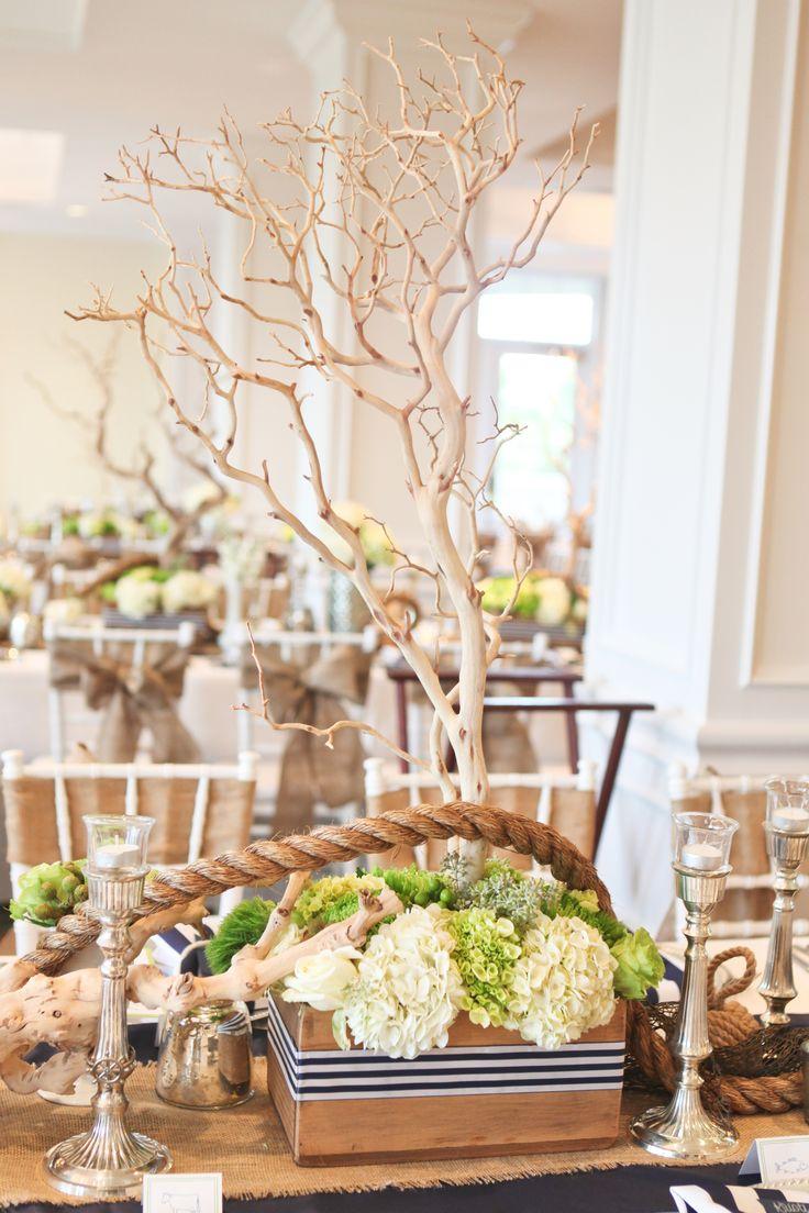 Fun Nautical #wedding Table Centerpiece