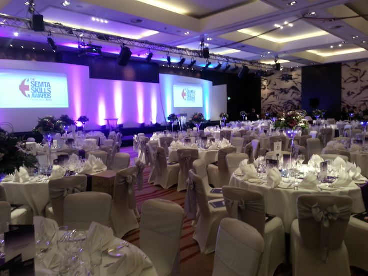The Park Plaza Riverbank, London - beautifully decorated for the ceremony