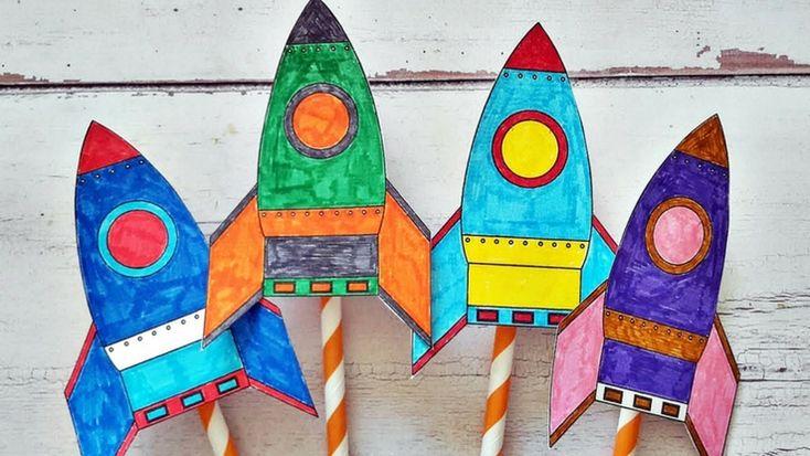 Határ a csillagos ég: reptethető űrhajók #diy #kreatív #papír