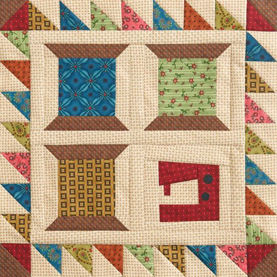 Sewing Spools Wall Quilt-free pattern