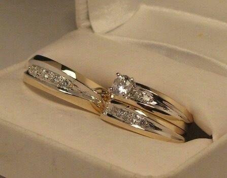 Set Anillos De Boda Anillos De Boda Anillos De Compromiso Y Anillo De Matrimonio
