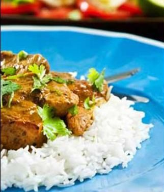 Lamb or chicken curry