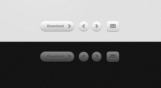 Light & Dark (PSD) Buttons - Free PSD Web Design Templates