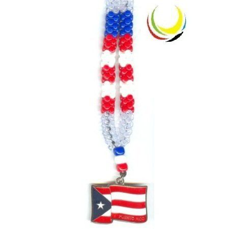 Necklaces - PUERTO RICO FLAG- by Flags and Souvenirs. $4.99. PLASTIC BEADED NECKLACES WITH PENDANT PAINTED ON BOTH SIDES.   SIZE: 15 3/4 in LONG (aprox)   COLLARES DE PEPAS PLASTICAS,CON DIJE PINTADOS POR LAS DOS CARAS   TAMAÑO 40 cm LARGO (aproximado)    WHOLESALE PRICES  AVAILABLE  FOR MORE INFOMATION:   CALL : 305 264-3417