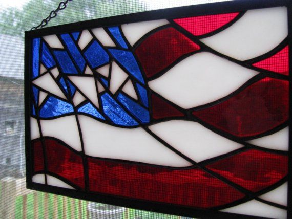 American Flag Stained Glass Panel                                                                                                                                                      More