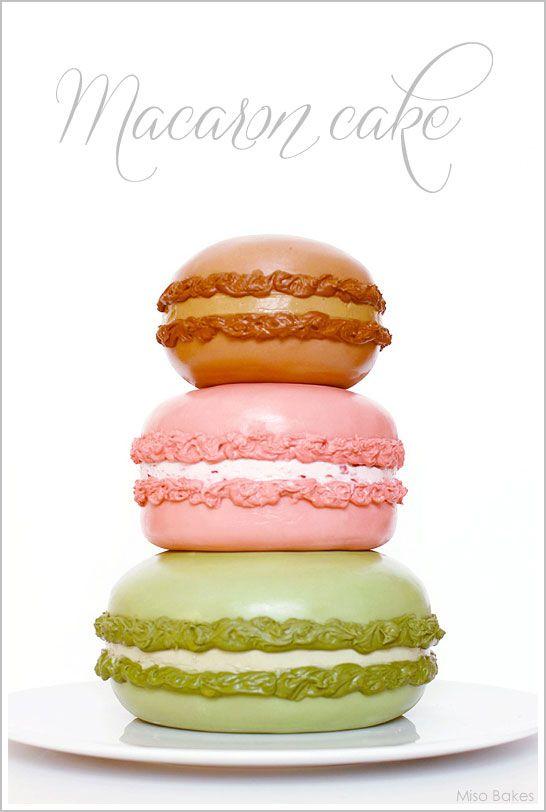 ... DIY: Macaron Cake: Macaron Cake, Macaroon Cake, Macaroons, Cake