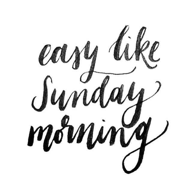 Good Sunday morning!