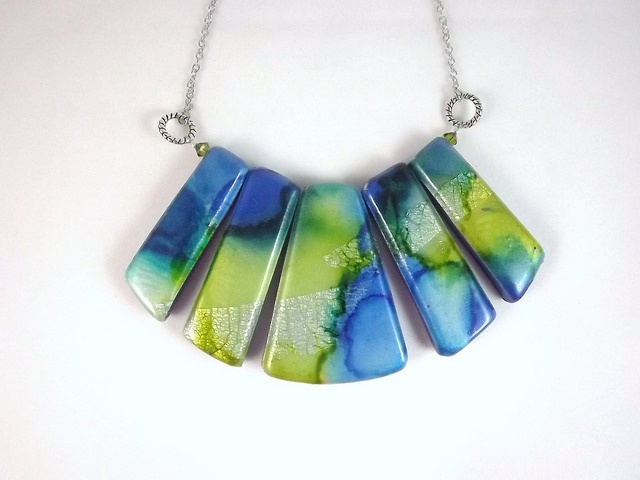 Beautiful polymer clay necklace I found on flickr done by LisaFE2011