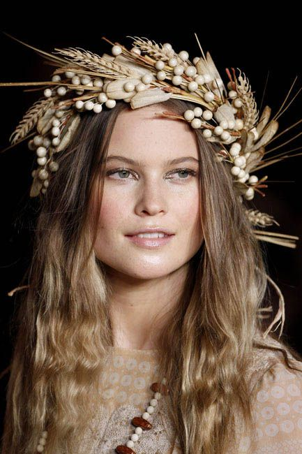 Behati Prinsloo at the Anna Sui Spring 2011 show
