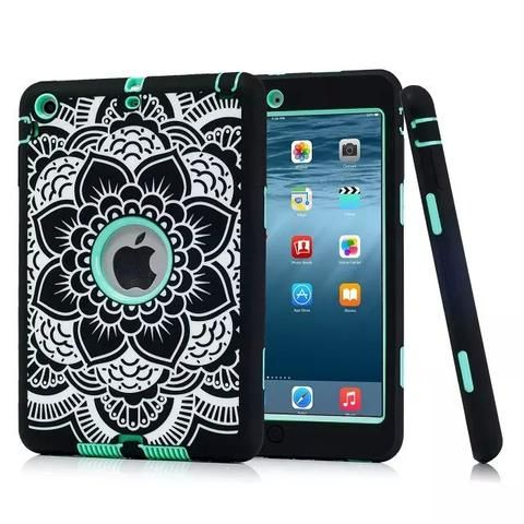 For iPad Mini 3 2 1 Rugged Floral Print Case Cover Shockproof Heavy Duty Rubber Skin Cover for Apple iPad Mini 2 3 Conque Capa - SA boutique Shop  - 1