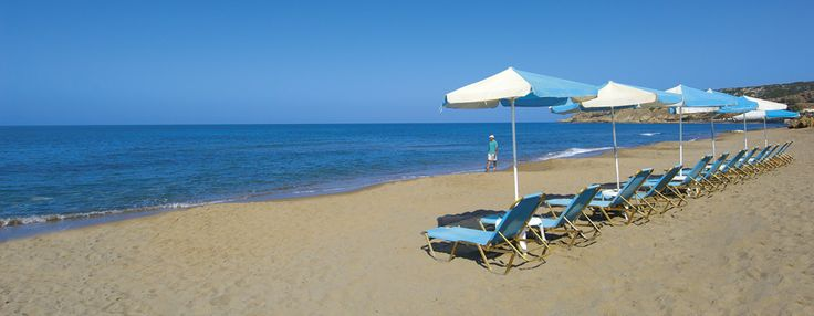 Sandy beach 5 minutes from the town of Rethymno!