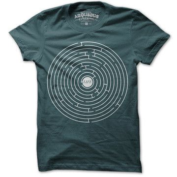 Life A Maze Tee Mens Teal, $19.50, now featured on Fab.