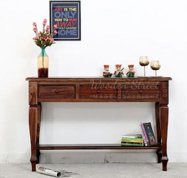 You Can Make Your #livingroom Look More Traditional By Placing This Console  Table To Show Your Vases And Decorating Items. The Sheesham Wood ...