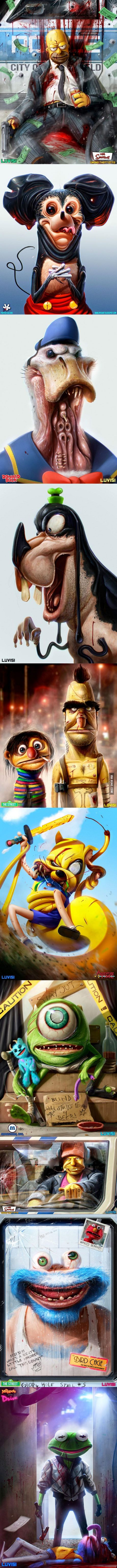Childhood Characters as Criminals