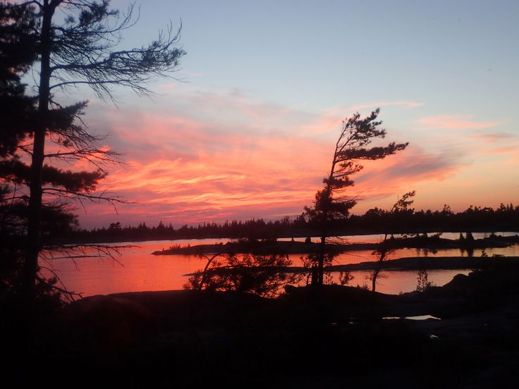 Sunset views on the Churchill Islands. July 2017