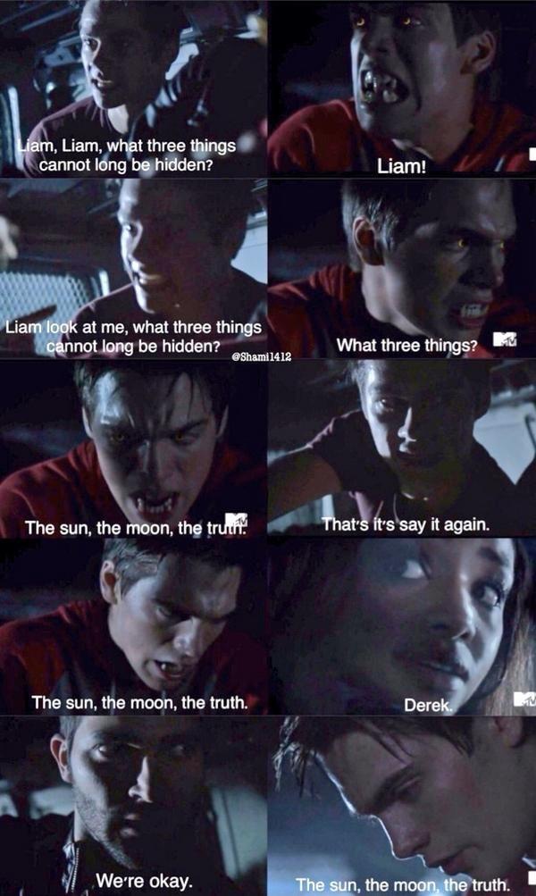 "Teen Wolf Season 04 Episode 12 ""Smoke and Mirrors"" Season Finale. Stiles, Liam, and Derek and Braeden"