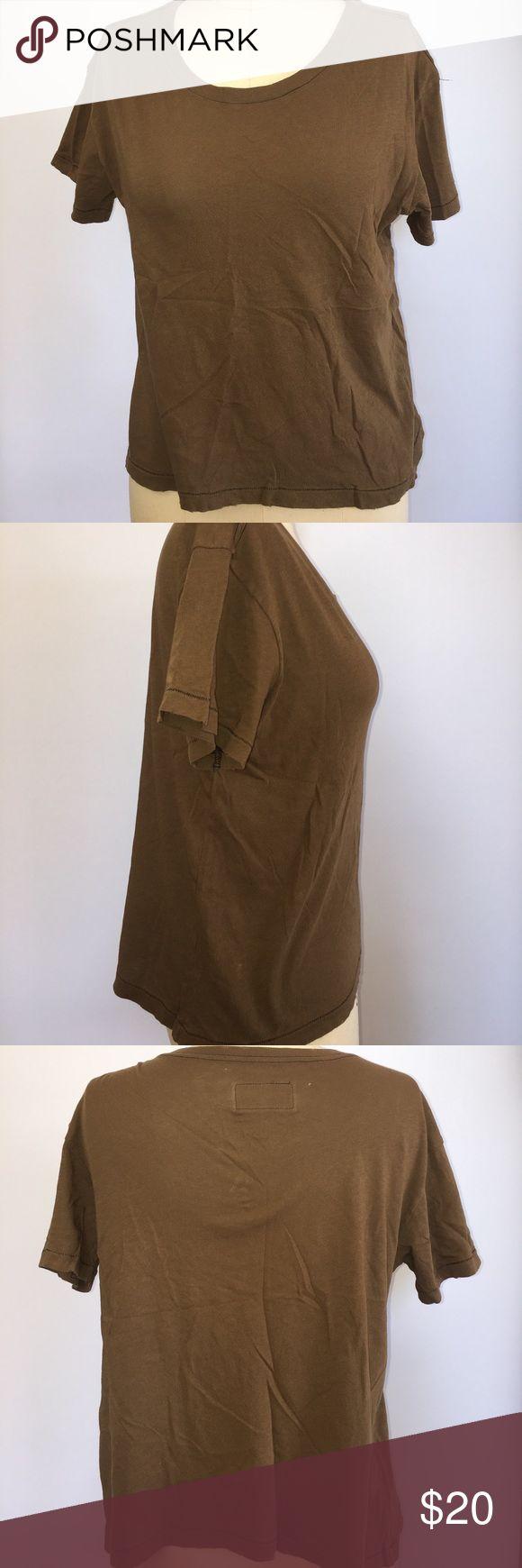 Current Elliot Women's Brown Sace T-shirt Current Elliot  Women's  Sace T-shirt Color Brown Size Small Current/Elliott Tops Tees - Short Sleeve