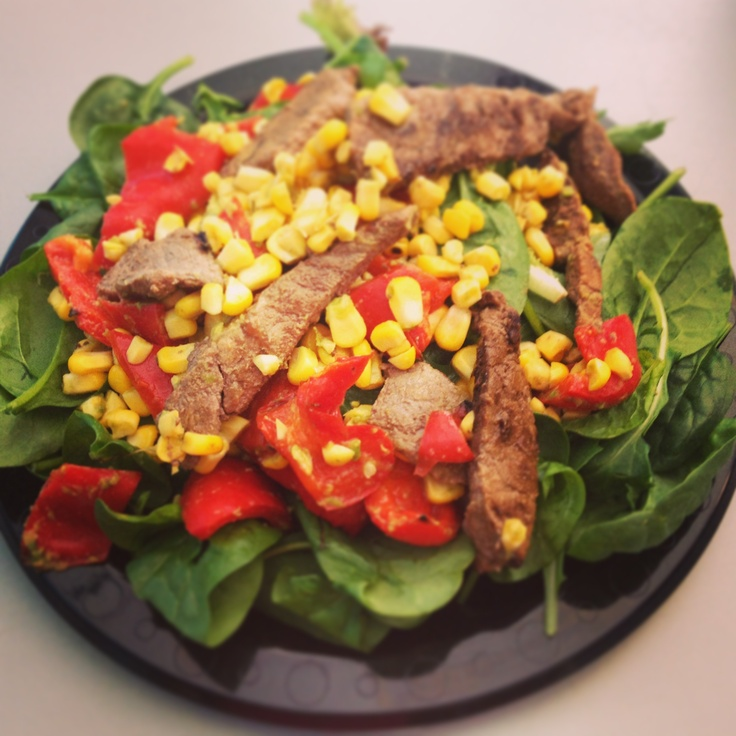 Michelle Bridges 12wbt Char-grilled Beef with Avocado & Corn Salsa