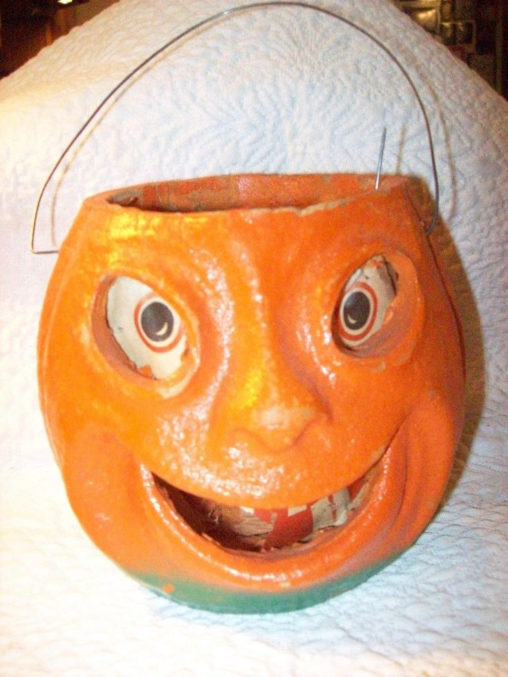 1000 images about vintage jack o lanterns and candy for Papier mache lanterns