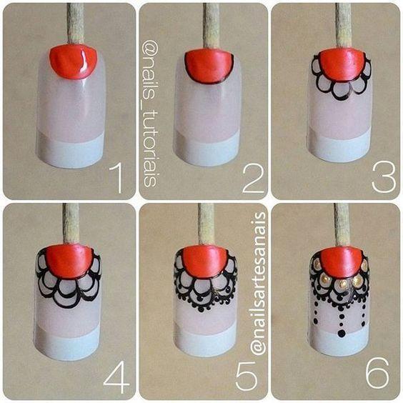 uñas de atrapasueños ,   http://decoratefacil.com/unas-decoradas-con-mandalas/